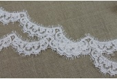 Corded Lace Scallop Trim - Ivory