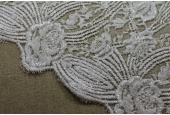 Beaded Leavers Lace - Ivory