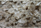 3D Flower and Sequin Applique Cut Out Fabric - Blush
