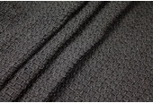 REMNANT: Chunky Weave Silk Matka - Black - 0.6m piece