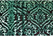 Embossed Viscose Velvet - Green with Pink and Gold Foil