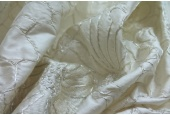 Corded Flower Embroidery - Ivory