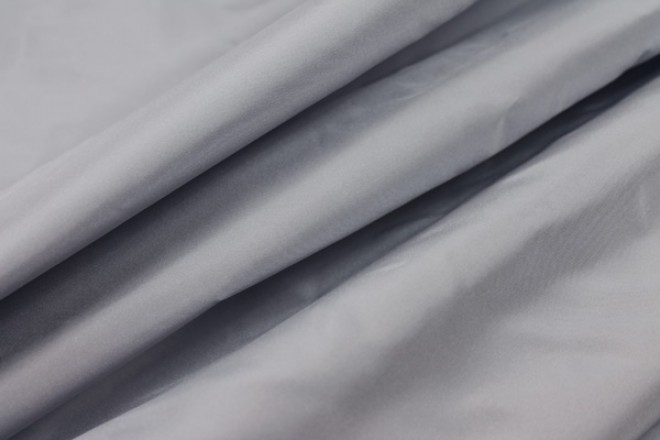Silk Taffeta - Blue Grey