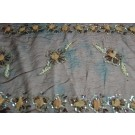 Brown/black chiffon with sequin and bead floral embellishment