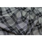 Black & White Large Check Wool