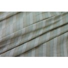 Striped Silk Dupion - Cream Gold and Sage