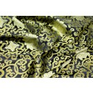 Chinese Brocade - Black and Gold Lotus