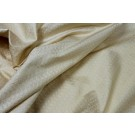 Silk Brocade - Cream Small Floral Pattern