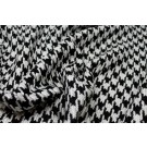 Black & White Houndstooth Check - Viscose Blend