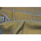 Embossed Viscose Velvet - Blue Gold Corduroy Effect