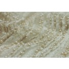 Italian Hand Beaded Lace - Ivory with Pearls and Micro Beads