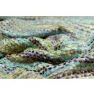 Silk/Viscose Chenille Texture Weave in Greens, Turquoise and Lilac
