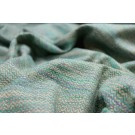 Silk Herringbone Weave in Green, Blue, Cream and Lilac