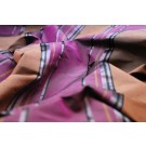 Satin Stripe Taffeta - Terracotta Plum Mauve Black