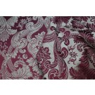Linen Brocade - Burgundy/Natural
