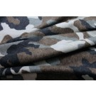 Camo Print Wool - Grey Brown