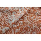 Wool Paisley - Orange and Ivory