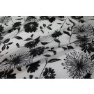 Floral Print Cotton - Black on White