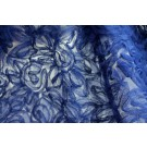 Royal Blue tulle, in gathered flowers