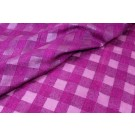 Checked Semi Sheer Matka - Violet