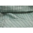 Striped Silk Dupion - Duck Egg Blue