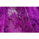 Petal Tulle on Silk Chiffon - Deep Magenta