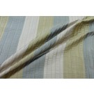 Pin-tuck Striped Silk - Blue Gold