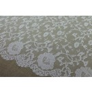 Ivory Chantilly Lace - Flower Pattern - WHOLE PIECE
