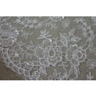 Beaded and Sequinned Chantilly Lace - Ivory