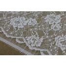 White Floral Leavers Lace
