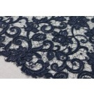 Guipure Lace - Flower Swirl - Black