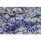REMNANT: Heavy Banaras Brocade - Electric Blue - 1.3m piece