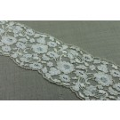 Beaded Embroidered Tulle Trim - Cream
