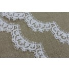 Chantilly Scallop Lace Trim - Ivory