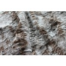 Faux Fur - Textured Grey Brown Short Pile