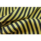 Striped Cotton - Black and Yellow