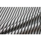 Shirting Cotton - Black and White Twill Stripe