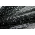 Soft Silk Tulle - Black with silver glitter