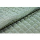 Quilted Silk Taffeta - Pale Green