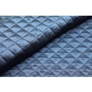 Quilted Silk Satin - Navy
