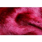 Faux Fur - Deep Pile Dark Red
