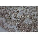 Oyster Leavers Lace - Metallic Oyster