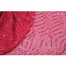 Sequin Squiggle Lines - Red on Red