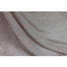 Beaded Silk Chiffon - Pale Pink with Clear Beads