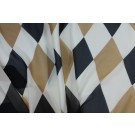Harlequin Print Silk Chiffon - Cream, Black and Caramel