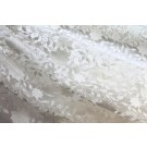 Flower and Vine Embroidered Tulle - Ivory