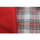 Wool Tartan Bonded with Red Nylon