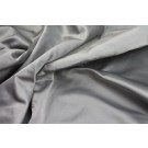 Poly Duchesse Satin - Grey shot Blue