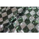 Harlequin Sequin On Tulle - Silver / Green