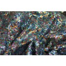 Multi Colour Micro Sequin - Blues / Orange